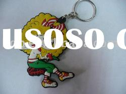 plastic keychain, customized pvc keyring