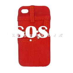 red denim jeans back cover case for iphone 4S