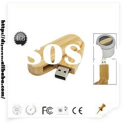 rotate wooden USB Flash Disk