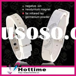 stainless steel silicone bracelet