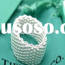 sterling silver mesh ring jewelry