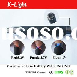 variable voltage battery ego-vv with USB port