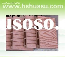 various color wpc plank road decking/composite decking/HOHEcotech wpc decking hollow wood