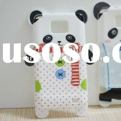 white 3D Panda Bear Silicone Soft Case For SAMSUNG GALAXY S II S2 I9100