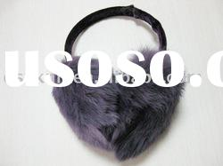 women rabbit fur ear muffs for winter