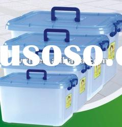 18L clear plastic storage box with handle