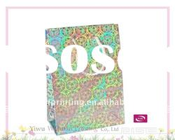 2011 Colorful Printing Nylon Rope Paper Gift Bag