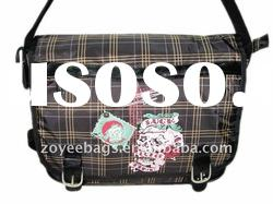 2011 fashion lady cotton fabric single strap bags