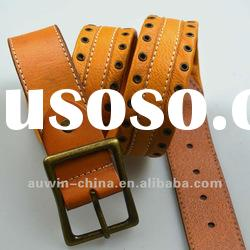 2012 Fashion Casual Men Raw Hide Genuine Cow Leather Belts