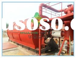 2012 Hot sale safety best quality automatic no pollution waste rubber pyrolysis equipment