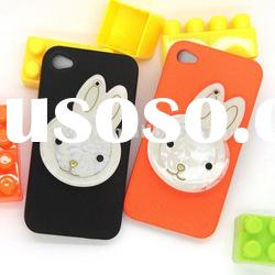 2012 New cute design Mobile phone Cartoon baby mirror hard plastic 3D case for iphone 4 4G 4S 4GS