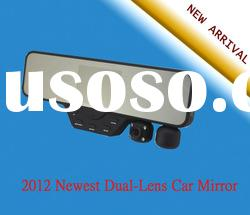 2012 Newest 720P Dual-Lens Car Recorder Rearview mirror