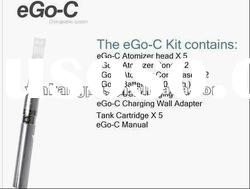 2012 Newest Choice!!!650/900mAh/1100mAh eGo-C with changeable atomzier tank system