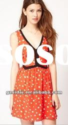 2012 UK ASOS high fashion elegant lady print dress, good quality with good price