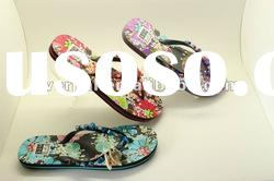 2012 colorful beaded strap ladies bedroom slippers