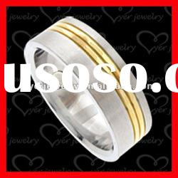 2012 exquistie 3D design stainless steel jewelry white rings