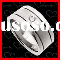 2012 exquistie 3D design stainless steel rings fashion jewelry