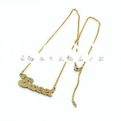 2012 fashion gold plated stainless steel alphabet pendant necklace