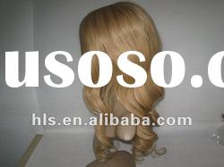 2012 lucky wig!Full Lace wig 100% human remy hair,golden color charming full lace wig,women favorite