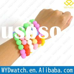 2012 newest design silicone bead bangles