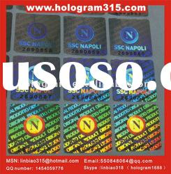 2012 security square hologram sticker label