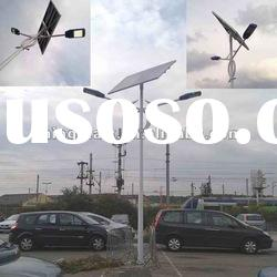 2012 two arms white pole solar street light for packing lot