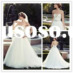 2013 new style sweetheart ball gown wedding dress with tulle ZQW305