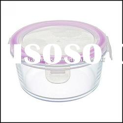 400 ML rectangle glass food container with lid