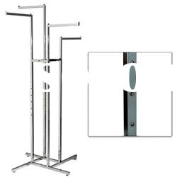 4 Way Adjustable Metal Garment Shop Display Stand with Straight Arms or Sloped Arms