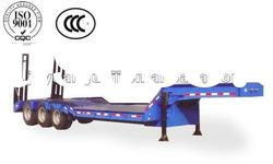 50 Tons heavy duty tri-axle low bed truck trailer(loading and unloading equipment)
