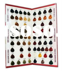 70 Colors Looped Swatch Synthetic Fibre Hair Color Chart