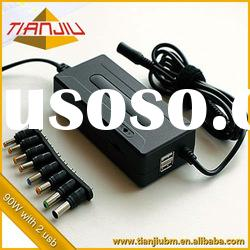 90W Universal Notebook Adaptor With Double USB (5V 1A) and Pure Copper Ac Power Cable