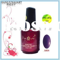 A058 one step gel gelish soak off gel polish