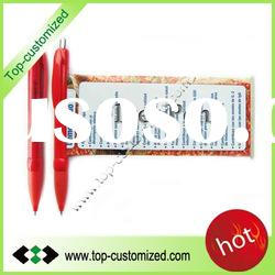 Advertising pull out banner flag ball pen