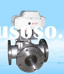 Automatic 3 way Ball Valve with Actuator-SS304
