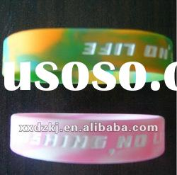 Beautiful mixed color silicone bracelets