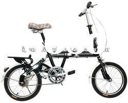 Black light-weight folding bike with competitive price