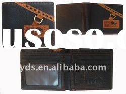 Brand name fashion leather wallet