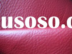 Bright red color pu/pvc coating leather fabric for handbags