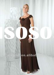 Cap sleeve long mother of the bride dresses ( ABB080)