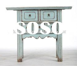Chinese antique blue carved alter table