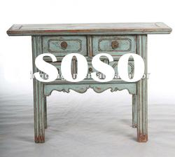 Chinese antique blue console table