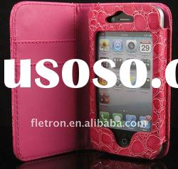Croco Skin Leather Case For iPhone 4 4G 4S