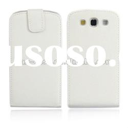 Customized White Flip Leather Case For Samsung Galaxy S3 SIII i9300