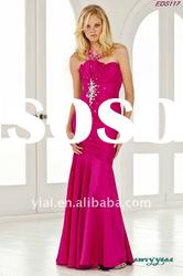 EDS117 Free Shipping Ladies Fashion Beautiful Ruffle Beaded Mermaid Evening Dress