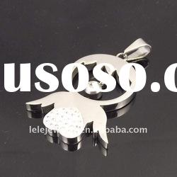 Fashion Stainless Steel Pendant with beauty girl
