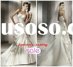 Fashion W-1149 strapless ball gown style satin bridal wedding dress