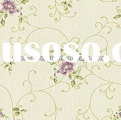 Flower pattern PVC home wallpaper