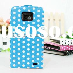For Samsung Galaxy S2 I9100 Vertical Leather Case Polka Dots Pattern