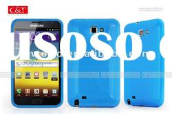 For Samsung i9220 Galaxy Note TPU Crystal Case Cover Protector Blue